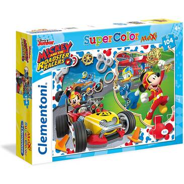 Clementoni Mickey Roadster Racers Puzzle Maxi, 104 Pezzi 4a+