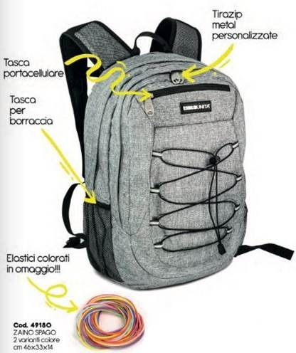 Zaino Tinta unita backpack spago